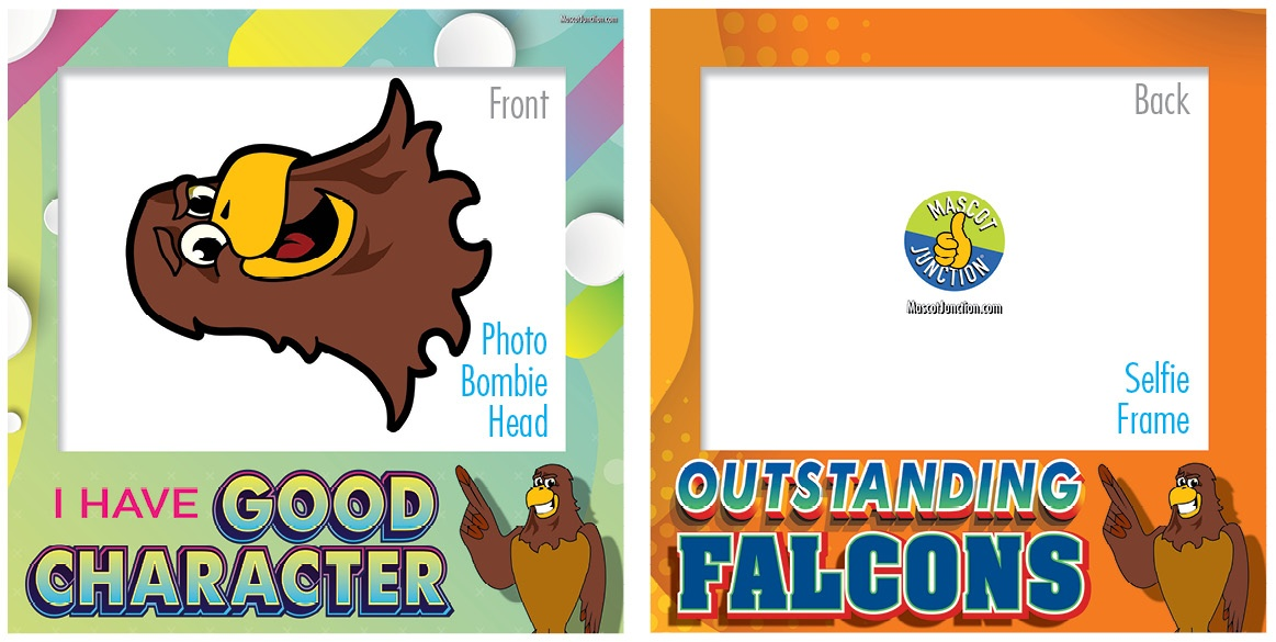 Selfie Frames_Character_Falcon3-Brown1