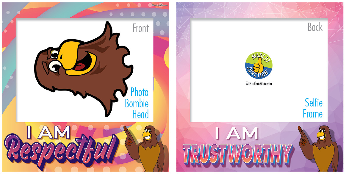 Selfie Frames_Character_Falcon3-Brown2