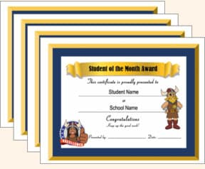 Award Certificates Student