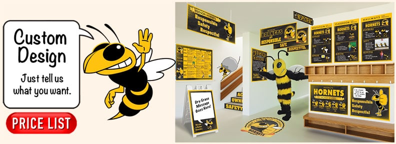 Hornet Mascot Posters Banners