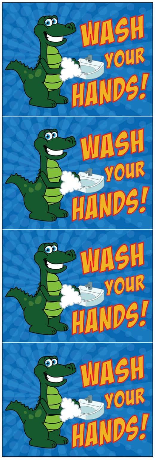 Wash Hands Gator Poster