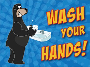 Wash Hands Adult Bear