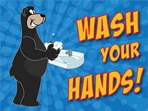 Wash Hands Adult Bear