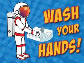 Wash Hands Astronaut