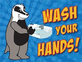 Wash Hands Badger