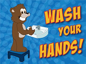 Wash Hands Brown Bear