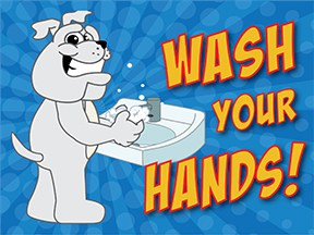 Wash Hands Bulldog