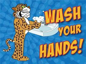 Wash Hands Cheetah