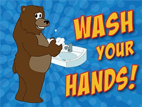 Wash Hands Grizzly