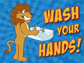 Wash Hands Lion