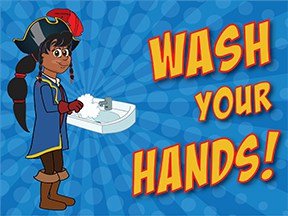 Wash Hands Pirate