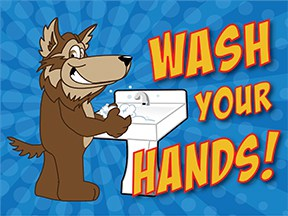 Wash Hands Wolf