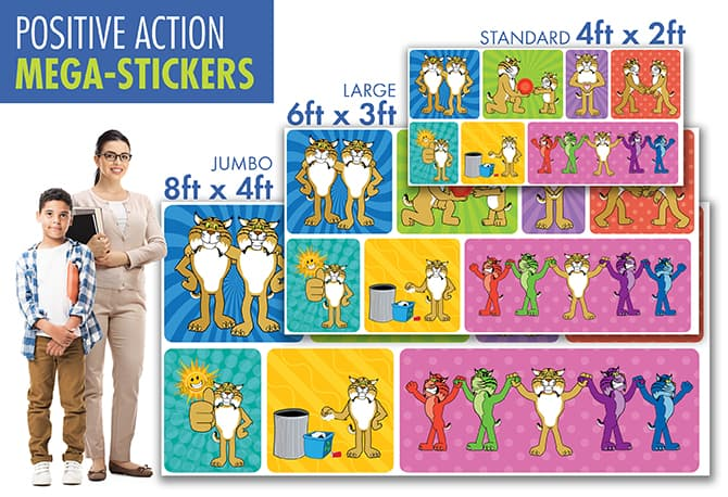Positive Action Wall Stickers