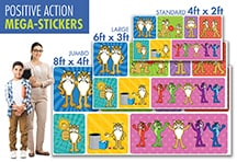 YPositive Action Wall Stickers