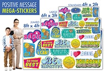 Positive Message Wall Stickers
