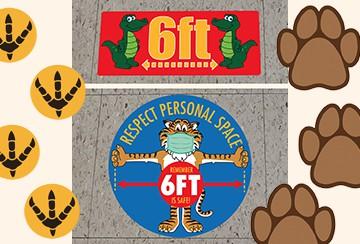 Social Distance Floor Stickers School