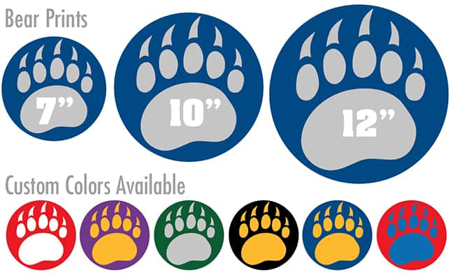 Bear Paw Print Floor Stickers
