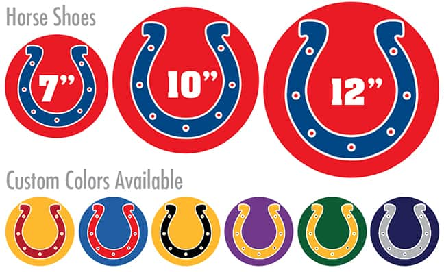 Horse Shoe Floor Stickers