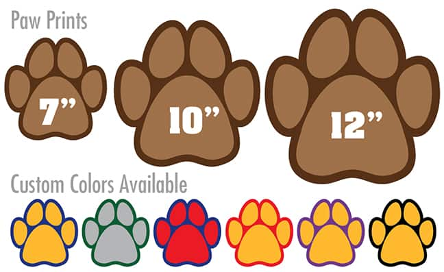 Paw Print Floor Stickers School