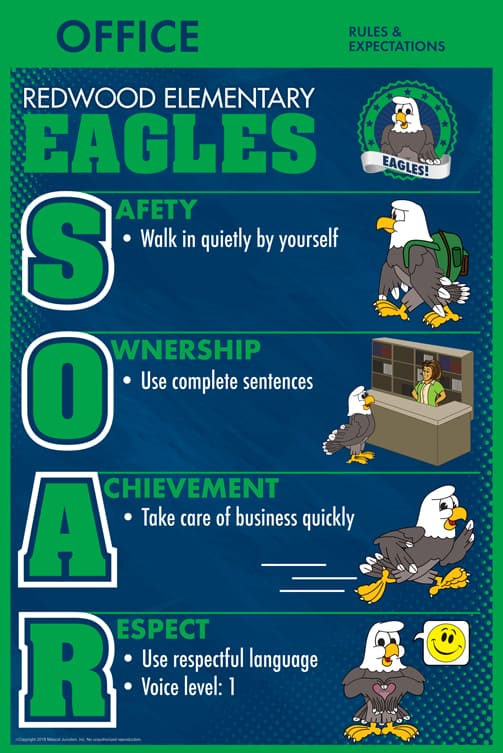 SOAR Eagle Matrix PBIS Rules Poster