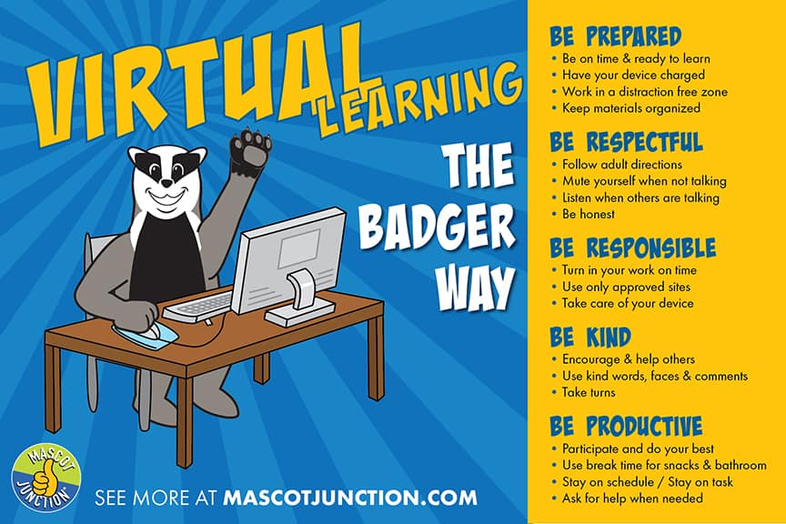 Virtual Learning Matrix Poster PBIS Badger