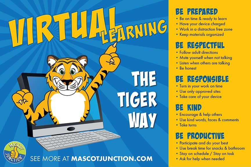 Distance Learning Poster Tiger