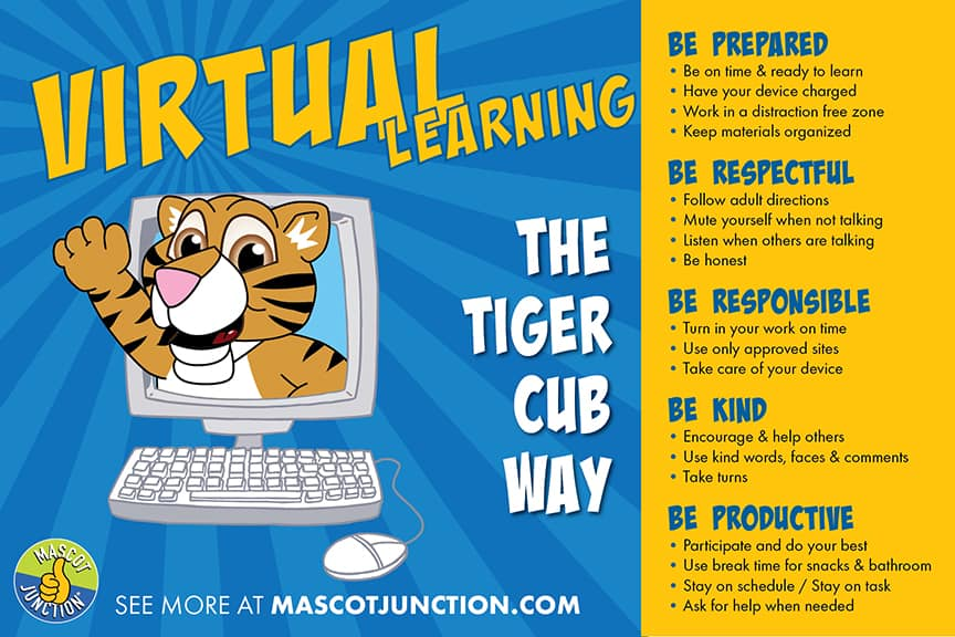 Virtual Learning Poster Tiger Cubs