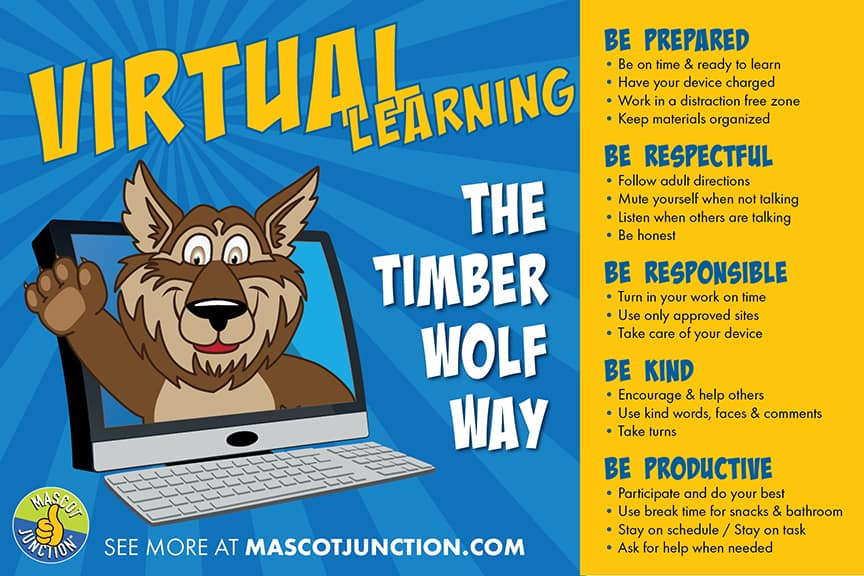 Virtual Learning Matrix Poster Timberwolf