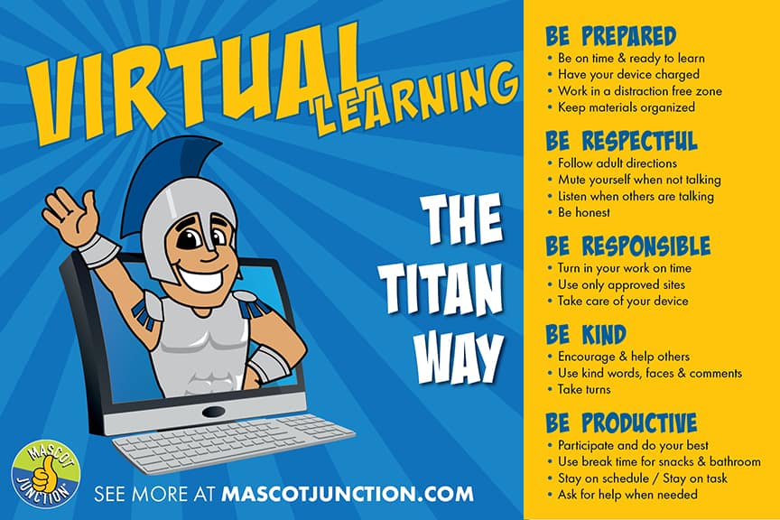 Virtual Learning Poster Titan