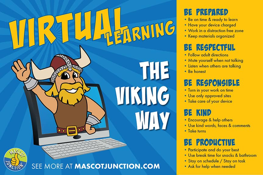 Distance Learning Poster Viking