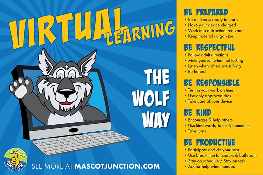 Distance Learning Poster Wolf