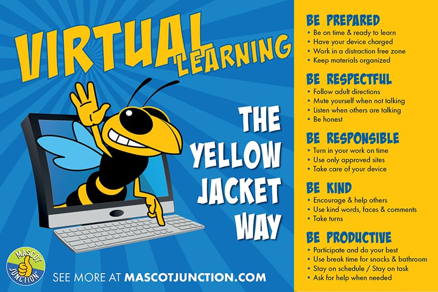 Virtual Learning Matrix Poster Yellowjackets Hornet