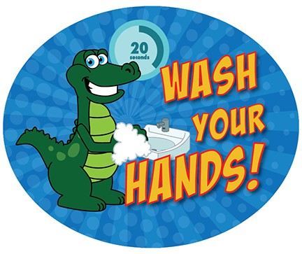 Wash Your Hands Wall Stickers