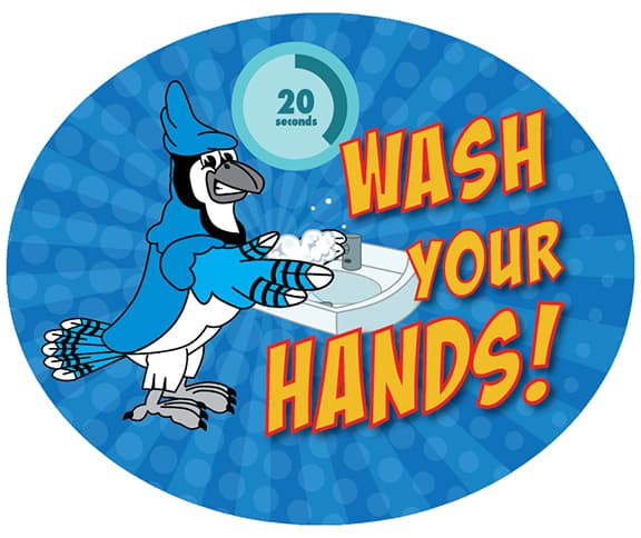 Wash Your Hands Sticker jay