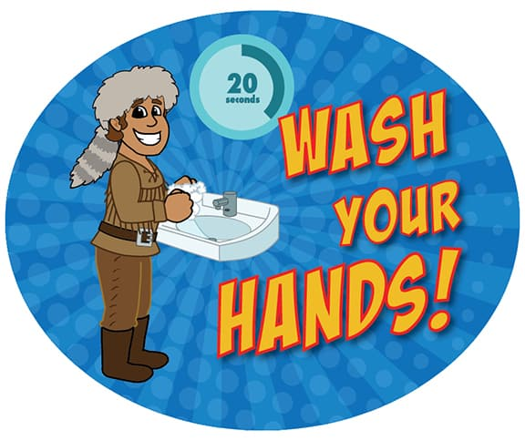 Wash Hands Sticker Pioneer Explorer