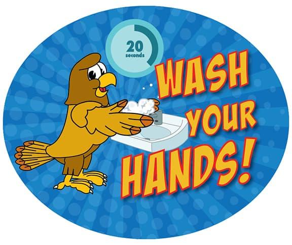 Wash Hands Sticker HAWK