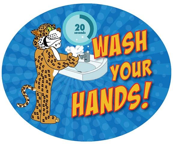 Wash Hands Sticker