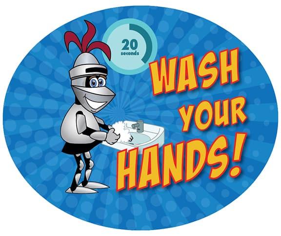 Wash Hands Sticker Lancer