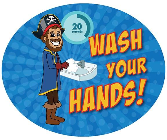 Wash Hands Pirate Boy