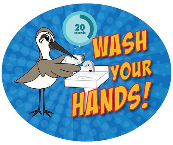 Wash Hands Sandpiper