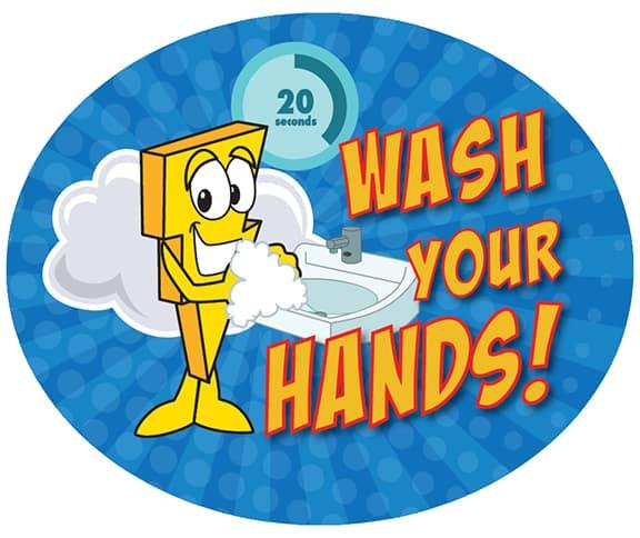 Wash Hands Sticker Ligntning