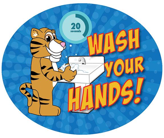 Wash HandsT iger Cub