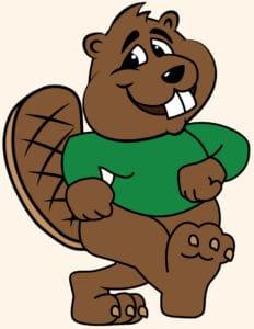 Beaver Mascot School Logo