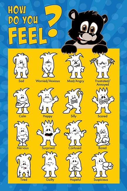 Black Bear Cub Feelings Poster