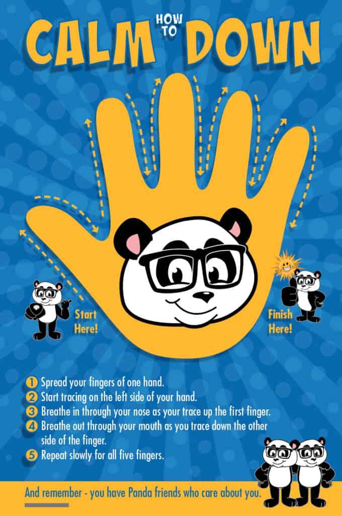 Calm Down Poster Panda Mascot
