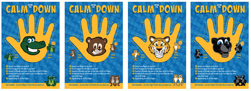Calm Down Posters Mascot Junction