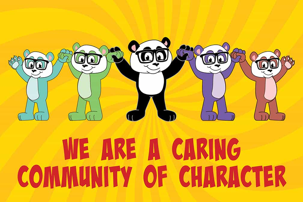 Caring Community Character Poster