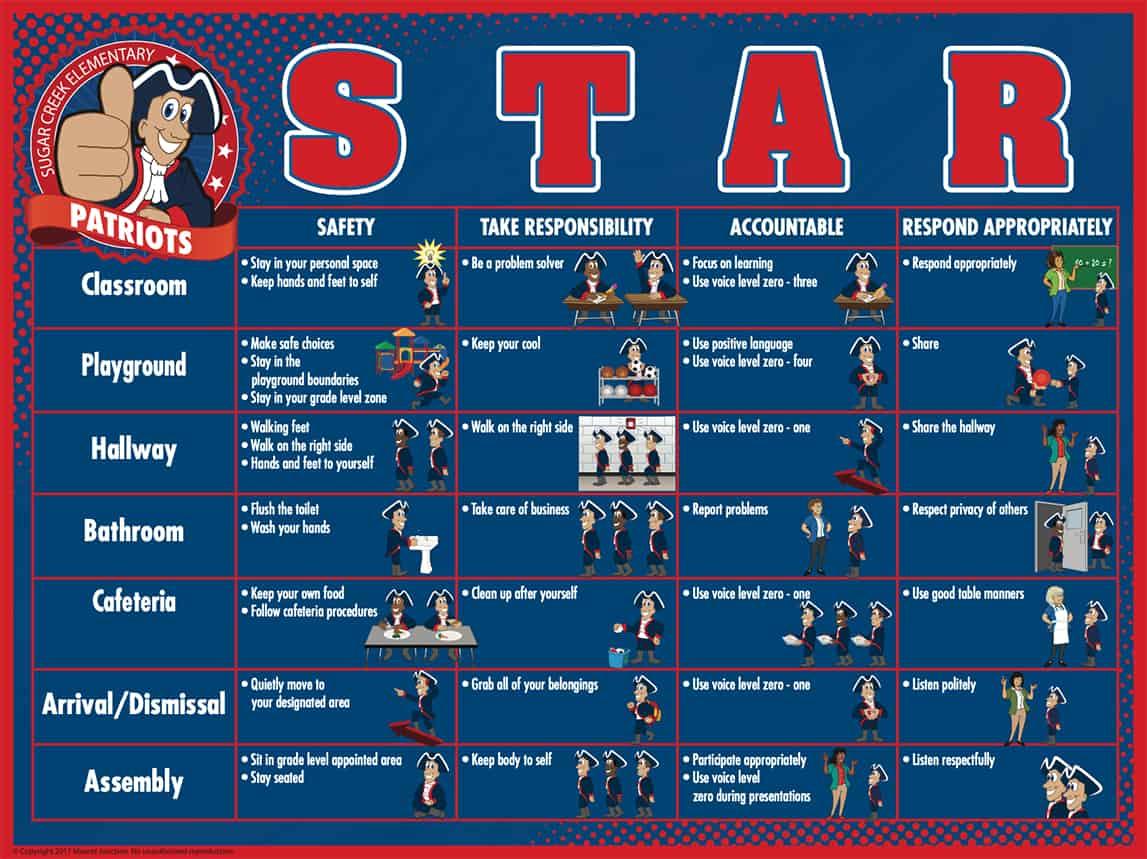 Matrix Poster PBIS STAR Theme copy