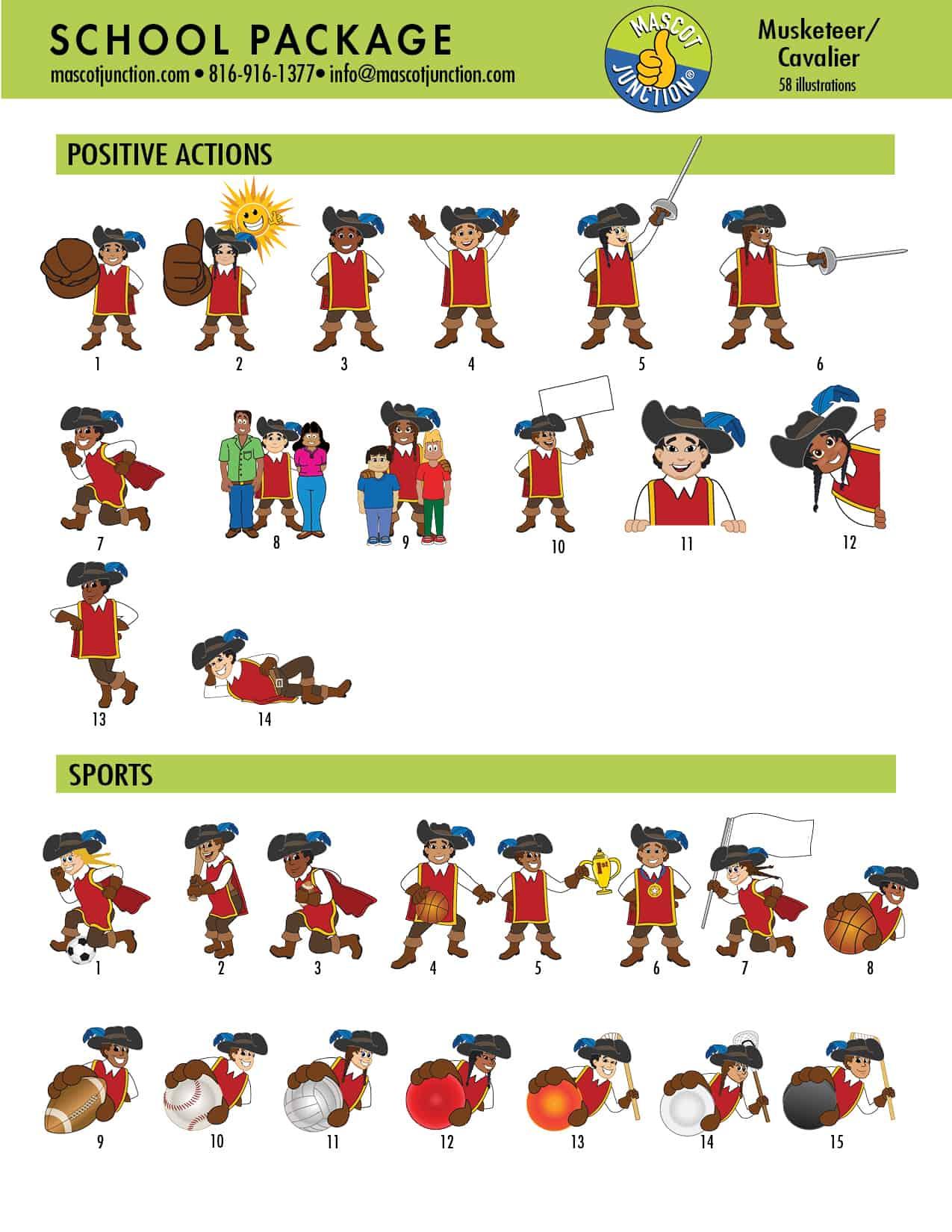 Mustketeer Cavalier Mascot Clip Art 2