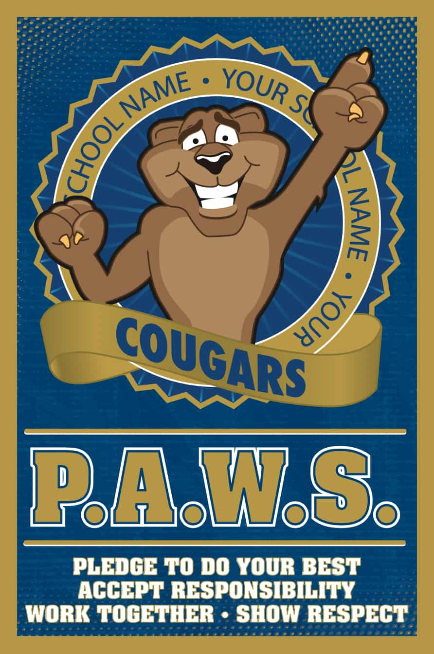 PAWS Theme PBIS Poster